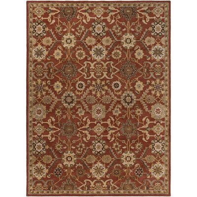 Phair Hand-Tufted Rust Area Rug Rug Size: Round 8