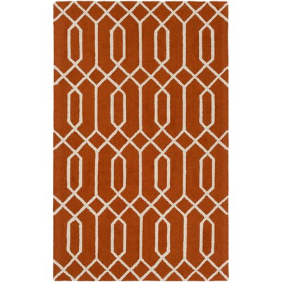 Wychwood Hand-Tufted Orange Area Rug Rug Size: Rectangle 4 x 6