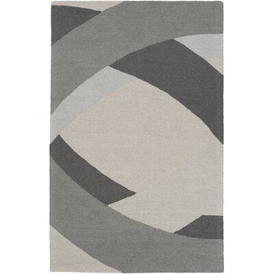 Oswaldo Hand Woven Wool Gray/Light Blue Area Rug Rug Size: Rectangle 4 x 6