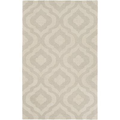 Impression Whitney Hand-Tufted Beige Area Rug Rug Size: 5 x 8