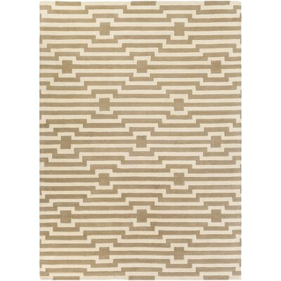 Zeitz Hand-Tufted Beige Area Rug Rug Size: Rectangle 9 x 13