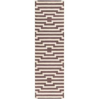 Zeitz Hand-Tufted Purple Area Rug Rug Size: Runner 23 x 12
