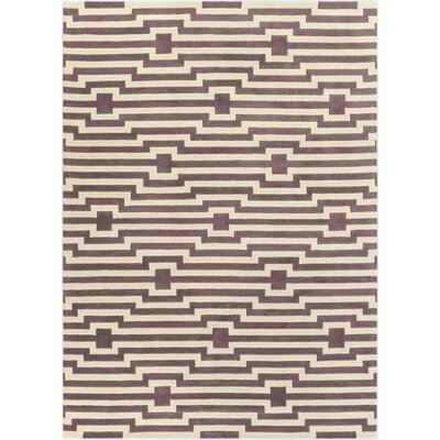 Zeitz Hand-Tufted Purple Area Rug Rug Size: Rectangle 5 x 76