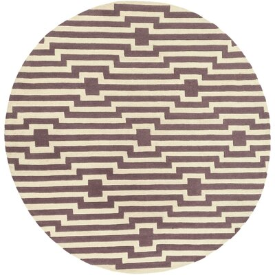 Zeitz Hand-Tufted Purple Area Rug Rug Size: Round 8
