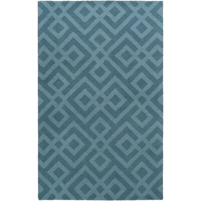 Impression Poppy Hand-Tufted Blue Area Rug Rug Size: 4 x 6