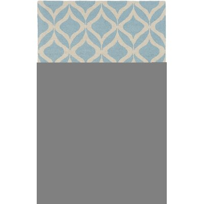 Impression Addy Hand-Tufted Light Blue Area Rug Rug Size: 5 x 8