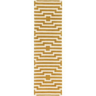 Zeitz Hand-Tufted Yellow Area Rug Rug Size: Runner 23 x 10