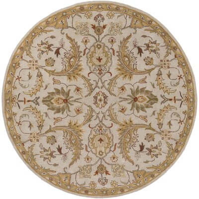 Phipps Hand-Tufted Light Blue Area Rug Rug Size: Round 6