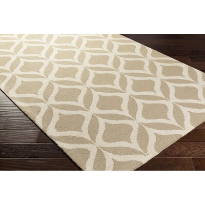 Mowrey Hand-Tufted Beige Area Rug Rug Size: Rectangle 9 x 13