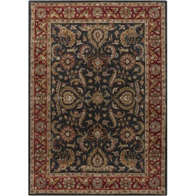 Middleton Georgia Slate Blue/Red Area Rug Rug Size: Round 8