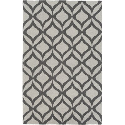 Impression Addy Hand-Tufted Gray Area Rug Rug Size: 5 x 8