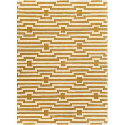 Zeitz Hand-Tufted Yellow Area Rug Rug Size: Rectangle 9 x 13