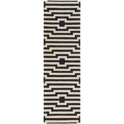 Zeitz Hand-Tufted Navy Area Rug Rug Size: Runner 23 x 8