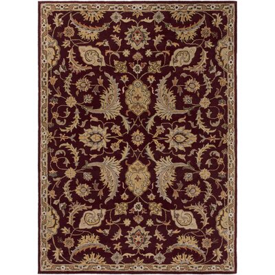 Phipps Hand-Tufted Red Area Rug Rug Size: Round 6