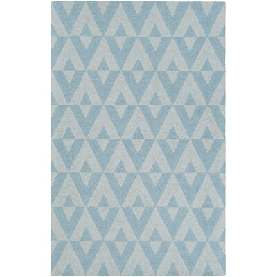 Zabel Hand-Tufted Blue Area Rug Rug Size: Rectangle 5 x 8