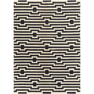 Zeitz Hand-Tufted Navy Area Rug Rug Size: Rectangle 4 x 6