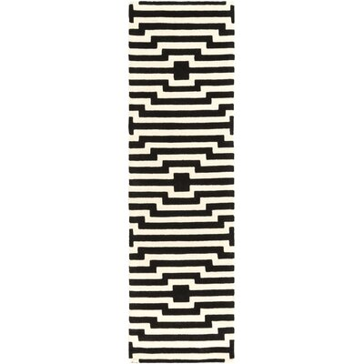 Zeitz Hand-Tufted Black Area Rug Rug Size: Runner 23 x 12