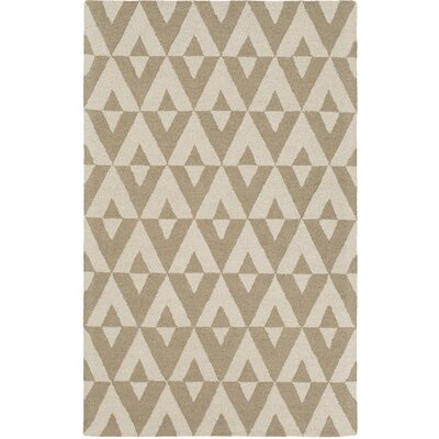Zabel Hand-Tufted Sand/Ivory Area Rug Rug Size: Rectangle 4 x 6