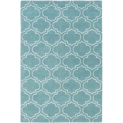 Shandi Hand-Tufted Light Blue Area Rug Rug Size: Round 36