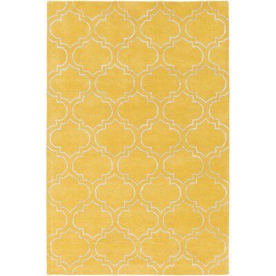 Shandi Hand-Tufted Yellow Area Rug Rug Size: Round 6