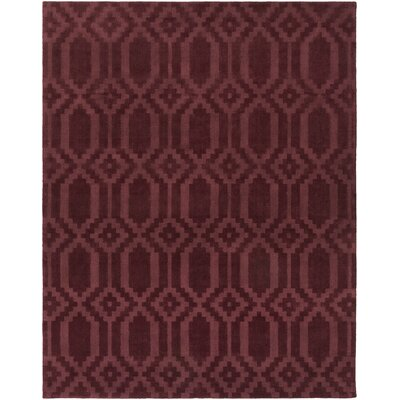 Brack Hand-Loomed Burgundy Area Rug Rug Size: Rectangle 9 x 12
