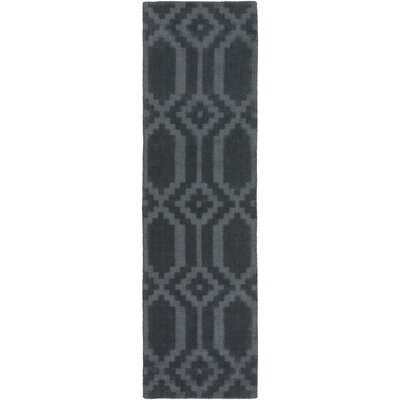 Brack Hand-Loomed Denim Area Rug Rug Size: Runner 23 x 12