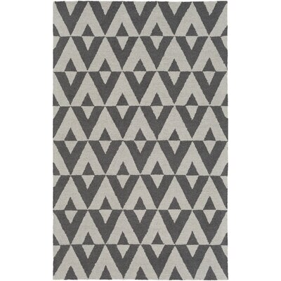 Impression Andie Hand-Tufted Gray Area Rug Rug Size: 5 x 8