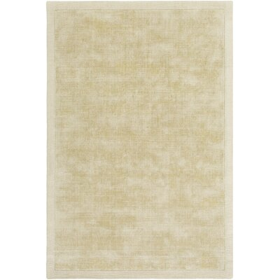 Natalie Hand-Loomed Beige Area Rug Rug Size: Rectangle 9 x 12