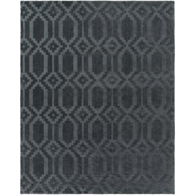 Brack Hand-Loomed Denim Area Rug Rug Size: Rectangle 9 x 12
