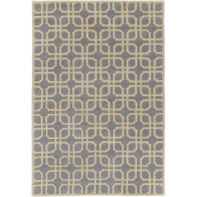 Murrah Pale Blue/Ivory Area Rug Rug Size: Rectangle 76 x 96