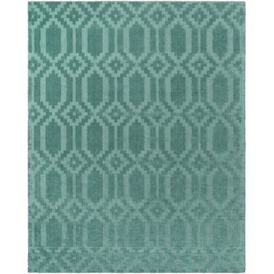 Brack Hand-Loomed Teal Area Rug Rug Size: Rectangle 10 x 14