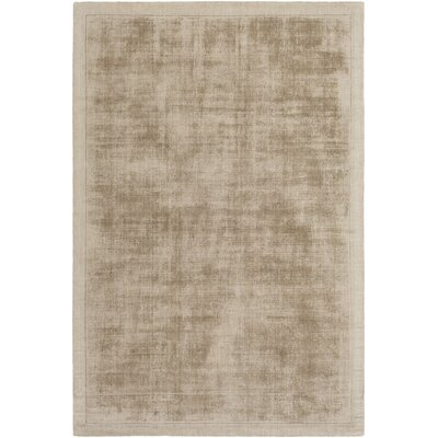 Natalie Hand-Loomed Taupe Area Rug Rug Size: Rectangle 4 x 6