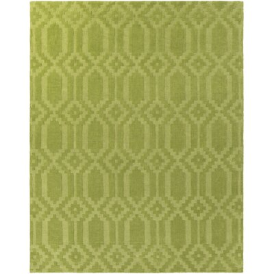 Brack Hand-Loomed Green Area Rug Rug Size: Rectangle 9 x 12