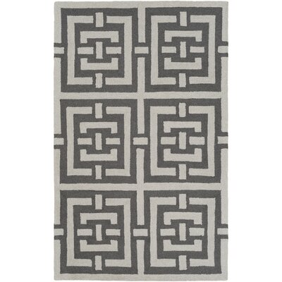 Providence Hand-Tufted Gray/Ivory Area Rug Rug Size: Rectangle 8 x 10