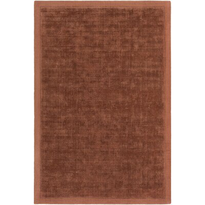Natalie Hand-Loomed Rust Area Rug Rug Size: Rectangle 9 x 12