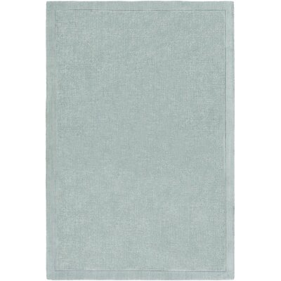 Natalie Hand-Loomed Light Blue Area Rug Rug Size: Round 36