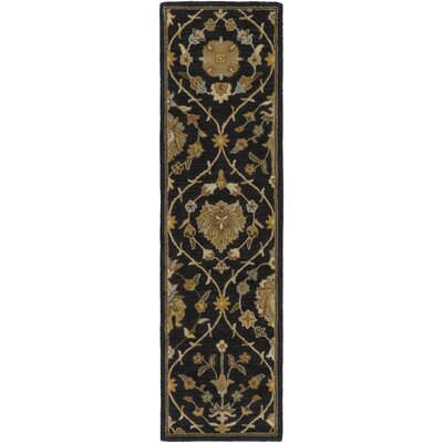 Phinney Black Hand Tufted Area Rug Rug Size: Runner 23 x 12