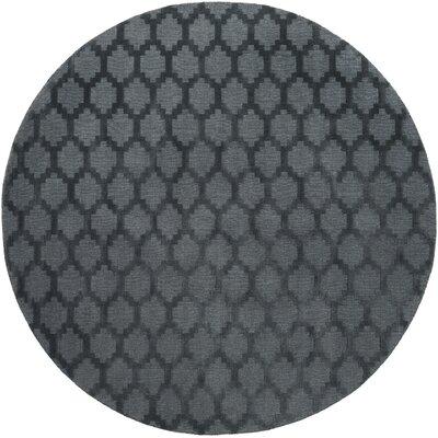 Bracey Hand-Loomed Denim Area Rug Rug Size: Round 6