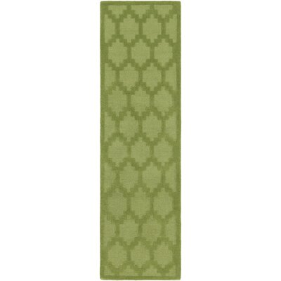 Metro Riley Hand-Loomed Green Area Rug Rug Size: Runner 23 x 8
