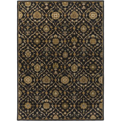 Phinney Black Hand Tufted Area Rug Rug Size: Rectangle 5 x 76