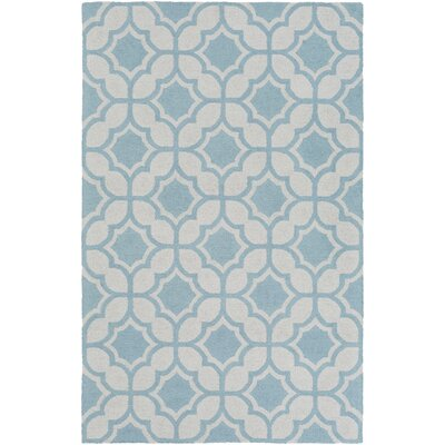 Wyckhoff Hand-Tufted Light Blue Area Rug Rug Size: Rectangle 9 x 13