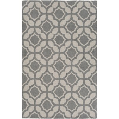Wyckhoff Hand-Tufted Gray Area Rug Rug Size: Rectangle 4 x 6
