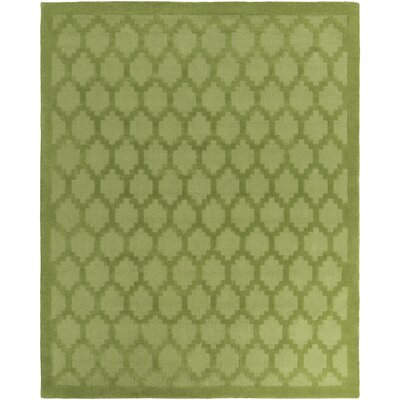 Bracey Hand-Loomed Green Area Rug Rug Size: Rectangle 6 x 9