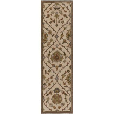 Phinney Hand-Tufted Cream Area Rug Rug Size: Runner 23 x 12