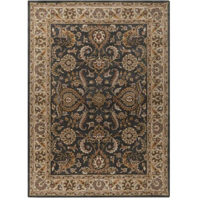 Dvorak Charcoal/Ivory Area Rug Rug Size: Rectangle 9 x 13