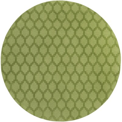 Metro Riley Hand-Loomed Green Area Rug Rug Size: Round 6