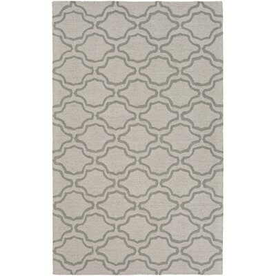 Coulombe Hand-Tufted Ivory Area Rug Rug Size: Rectangle 5 x 8
