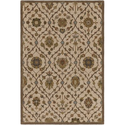Phinney Hand-Tufted Cream Area Rug Rug Size: Rectangle 6 x 9
