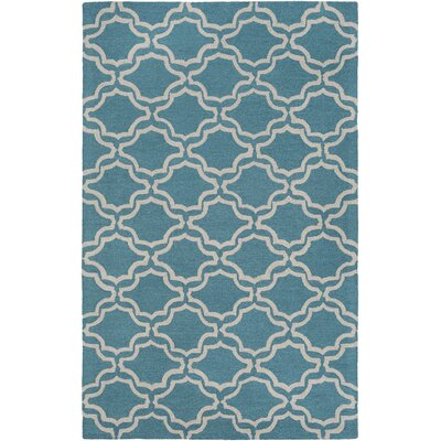 Coulombe Hand-Tufted Blue Area Rug Rug Size: Rectangle 9 x 13