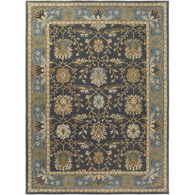 Middleton Savannah Hand-Tufted Navy Area Rug Rug Size: Round 6